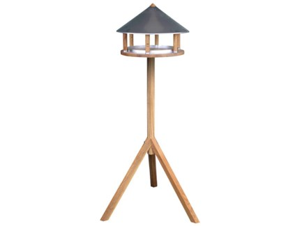 Bird table oak round zinc roof -  14.96x14.96x110