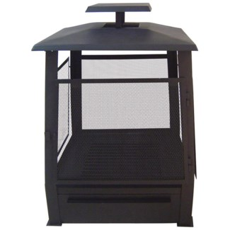 Pagoda terrace heater with wire. Metal. 59,0x59,0x78,0cm. oq/1,mc/1 Pg.24