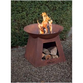 Rust firebowl. Metal. 56,5x56,5x33,0cm. oq/5,mc/5 Pg.23