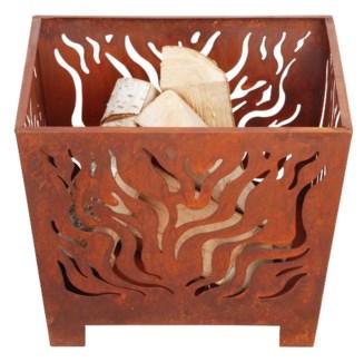 Fire basket square rust S. Metal. 39,0x39,0x30,0cm.