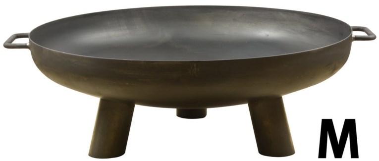 Steel fire bowl 70 cm. �2,5mm Steel. 80,0x70,0x24,5cm. oq/2,mc/1 Pg.25