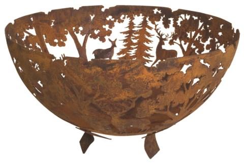 Fire bowl laser cut rust. Metal. 58,0x58,0x37,0cm. oq/2,mc/4 Pg.23