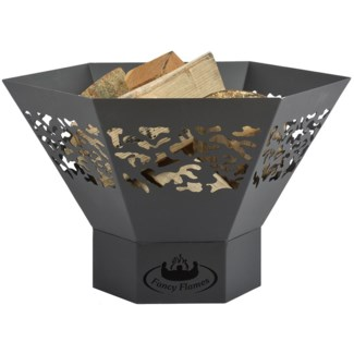 Hexagon fire bowl with laser cut - 22.75x19.75x14 inches