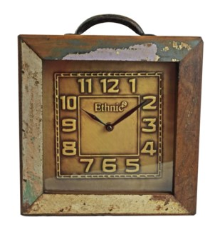 Recycled Wood Clock 12x3x14 inches On sale 25% off