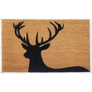 Regal Stag Mat, Black & Natural, 17.7x29.5 inches,1.5 cm thick