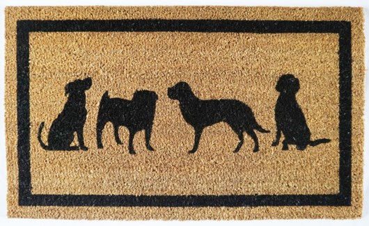 Dog Mat, Black & Natural, 17.7x29.5 inches, 1.5 cm thick