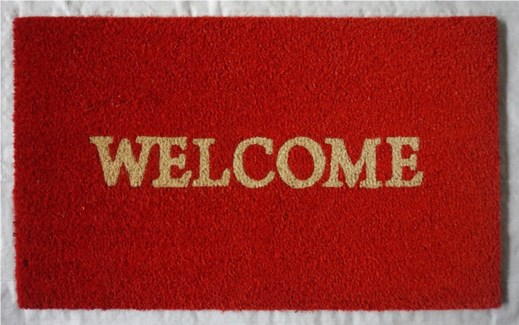 WELCOME Mat, Rust Red, 17.7x29.5 inches, 1.5 cm thick
