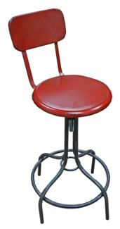 Leon Industrial Rustic Red Stool,  18.1x15x31.5