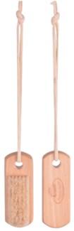 Nail brush on rope. Schima superba wood, pig s bristle, cotton cord. 4,1x3,0x11,2cm. oq/12,mc/120 P