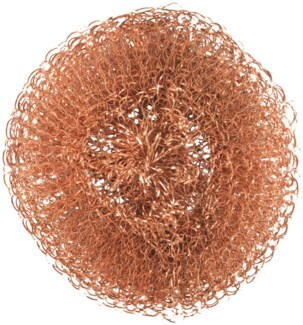 Copper wool scourer set of 2 - (3.5x3.5x0.9 inches)