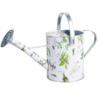 Herb print watering can. Zinc. 46,0x21,2x22,6cm. oq/8,mc/8 Pg.92, 134