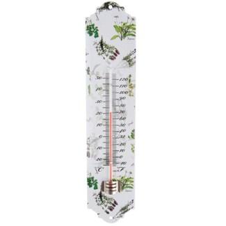 Herb print thermometer. Metal, glass, kerosine. 6,8x1,2x30,0cm. oq/12,mc/48 Pg.134