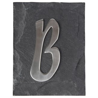 House letter B. Stainless steel. 5,0x0,7x10,0cm. *On Sale 25% off original price: $6.50
