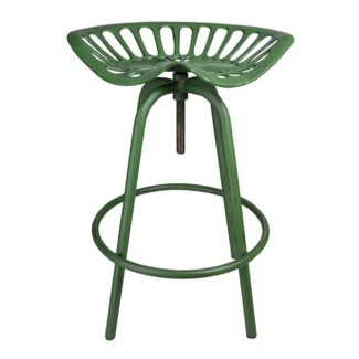 Tractor chair JD green. Cast iron, steel. 50,0x46,5x69,7cm.