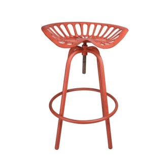 Tractor chair MF red. Cast iron, steel. 50,0x46,5x69,7cm.