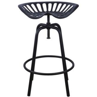 Tractor chair black. Cast iron, steel. 50,0x46,5x69,7cm. oq/2,mc/2 Pg.107