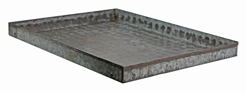 Vintage Iron Tray - 16.93x23.23x1.97 inches