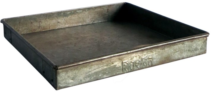 Vintage Iron Tray Small, India, 17x13x2.8 inches
