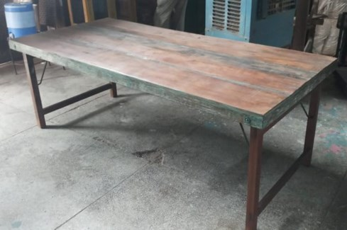 Vintage Folding Table w/short leg option, 71x35x30 in