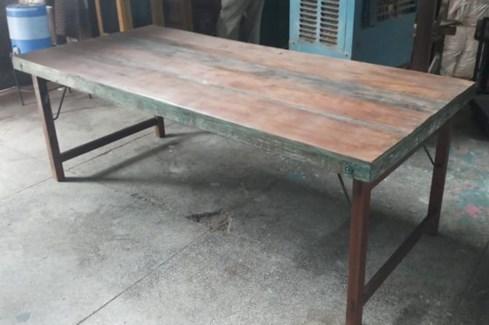 Vintage Folding Table w/short leg option, 71x35x30 in
