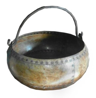 Iron Pot with Top Handle 14.56Dx8.6inch.