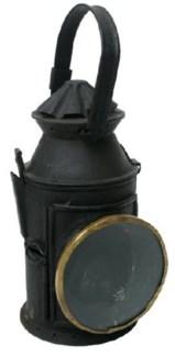 Antique Train Signal Lantern  5.51Dx13in.