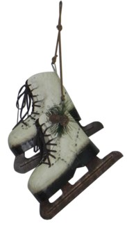 Ice-Skate Ornament Metal 8.7x5.5x7inch On Sale 50% off!
