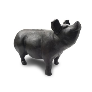 Cast Iron Pig Medium, Black, 9.2x3.7x5.9