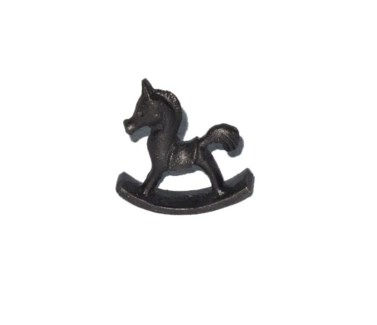 Rocking Horse, Cast Iron, Ant. Blk, 2x0.75x2 inches