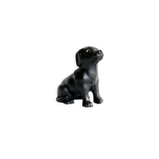 sitting puppy, antique finish, 3.1x1.8x2.8 inches