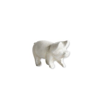 perky pig, antique white, 3.5x1.6x1.9 inches