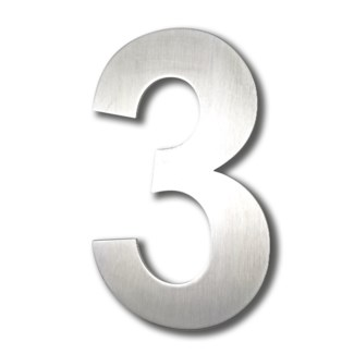 Stainless Steel 6   Arial Number-3 Satin Finish, 2.0 mm thick, anchor mounted