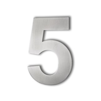 Stainless Steel 6   Arial Number-5 Satin Finish, 2.0 mm thick, anchor mounted