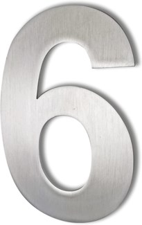 Stainless Steel 6   Arial Number-6 Satin Finish, 2.0 mm thick, anchor mounted
