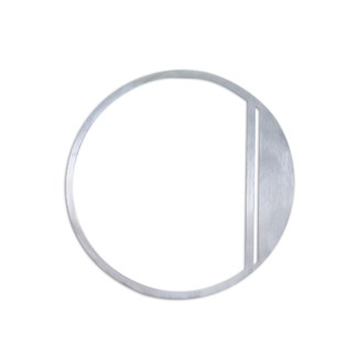 Stainless Steel 6  ArtDeco Number-0 Satin Finish, 2.0 mm thick, anchor mounted