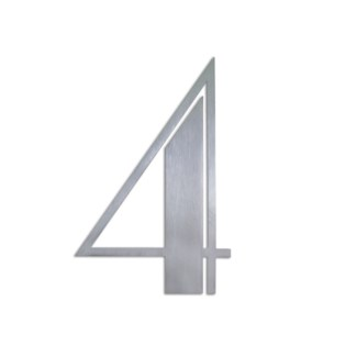 Stainless Steel 6   ArtDeco Number-4 Satin Finish, 2.0 mm thick, anchor mounted