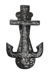 Anchor Door Knocker, 7.5 , Black