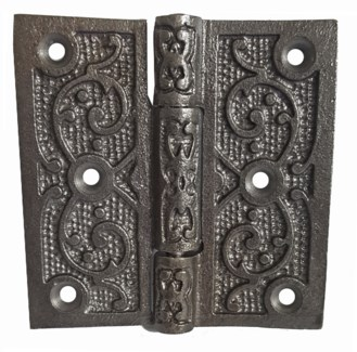 Filigree Hinge Antique Metal 4x4 inches