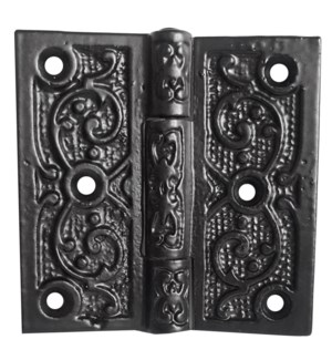 Filigree Hinge Black 4x4 inches