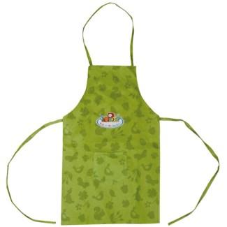 Children apron green. Canvas. 34,5x0,5x83,0cm. oq/12,mc/96 Pg.100