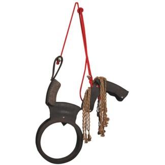 Horse swing. Rubber, nylon. 84,5x16,0x104,0cm. oq/2,mc/1 Pg.102