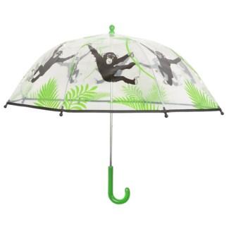 KG umbrella transparent monkey. POE, metal, PP. 72,0x72,0x63,3cm. oq/12,mc/60 Pg.99