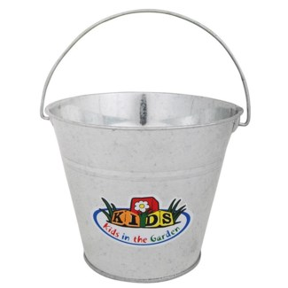Zinc Bucket. Zinc. 20,5x19,0x15,5cm. oq/12,mc/48 Pg.100