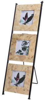 HZ1006560. Photoframe for 3 photos 10x10cm. Pressed Plywood Metal Frame 19x1x59cm. ON SALE 50 PERCEN