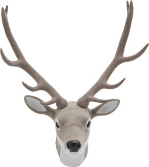 AAE260140. Grey Deer Head Synthetic 19.7x11.8x27.6inch. (units/inner:4. units/outer8) 40% off origin