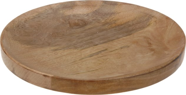 A54105320-Wooden Charger Plate, S -  8.9x8.9x.5 , With 4 Protective Pads On The Bottom - ON SALE 50