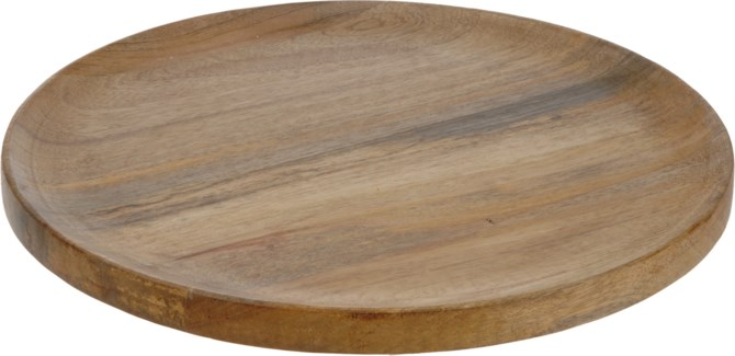 A54105340-Wooden Charger Plate, L - 15.7x15.7x.5  With 4 Protective Pads On The Bottom - ON SALE 50