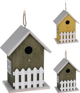 HZ1905010 - Birdhouse 2 Asst, Wood, 4.7x6.3x9 inches