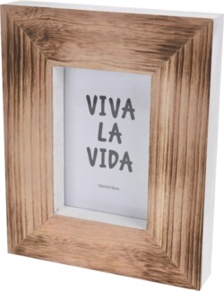 ASH302630. White/Wood Photo Frame 8.1x1.6x10inch. (units/inner:12. units/outer12)