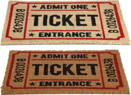 A35400490. 2Asstf TICKET Doormat Cocos Pv Tufted 40X60 Coconut 15.7x23.6inch. (units/inner:12. units